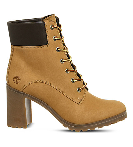 TIMBERLAND Allington 6 leather heeled ankle boots (Wheat
