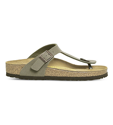 BIRKENSTOCK Toe thong faux-leather sandals (Stone
