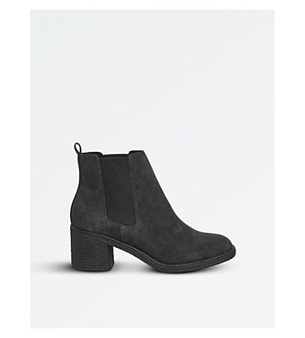 OFFICE Apple faux-fur lined Chelsea boots (Black+fur