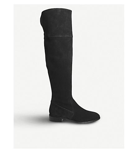OFFICE Kooper suede knee-high boots (Black+suede
