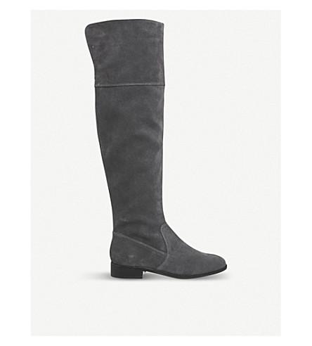OFFICE Kooper suede knee-high boots (Grey+suede