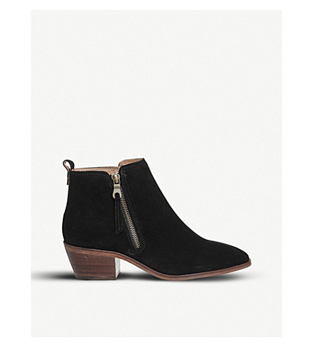 OFFICE Annex zipped suede ankle boots (Black+suede