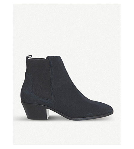 OFFICE Animate suede Chelsea boots (Navy+suede