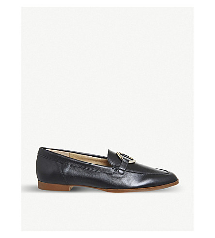 OFFICE Flavia leather loafers (Black+leather