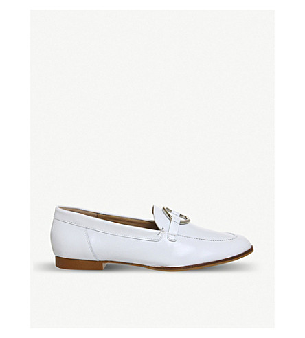 OFFICE Flavia patent-leather loafers (White+leather