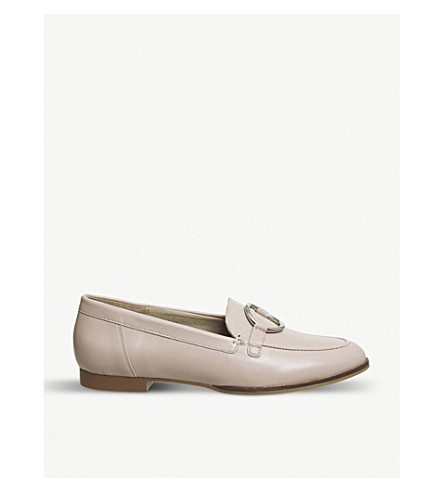 OFFICE Flavia leather loafers (Nude+leather