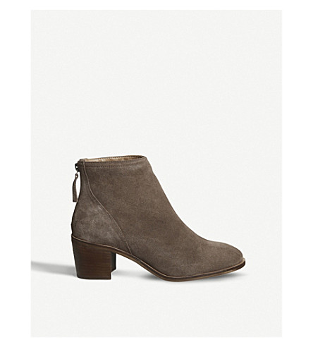 OFFICE Aylesbury zipped nubuck ankle boots (Taupe+suede