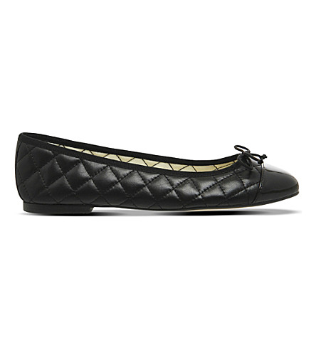 OFFICE Cecilia quilted ballerina pumps (Black+leather