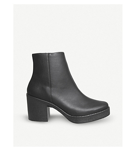 OFFICE Abel leather ankle boots (Black