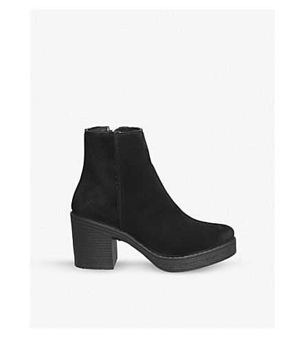 OFFICE Abel zipped suede ankle boots (Black+suede