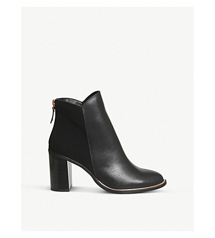 OFFICE Adelaide leather and suede ankle boots (Black+leathersuede