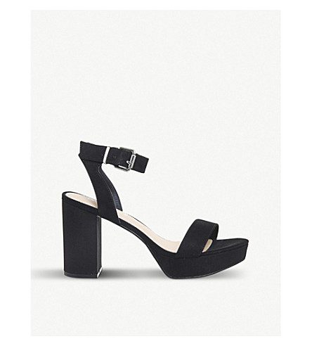OFFICE Mossy suedette heeled sandals (Black