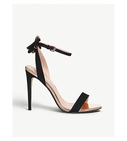 OFFICE Helena bow back sandals (Black+rose+gold