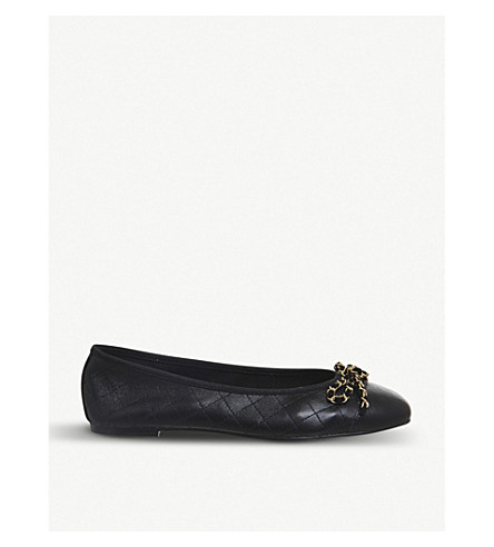 OFFICE Flo Chain ballet flats (Black+leather