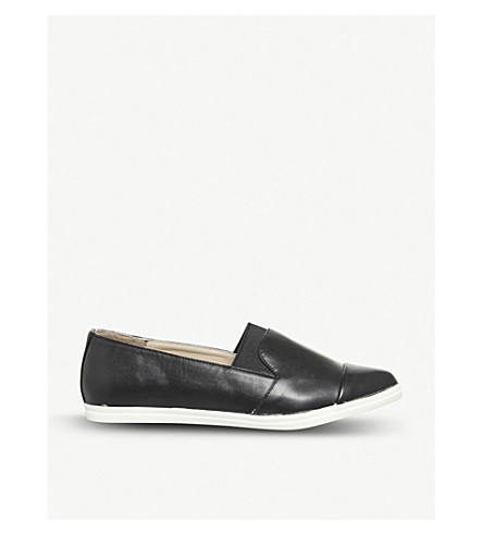 OFFICE Fugi faux-leather slip-on trainers (Black