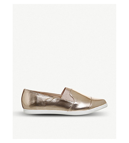 OFFICE Fugi elasticated slip on (Rose+gold+metallic