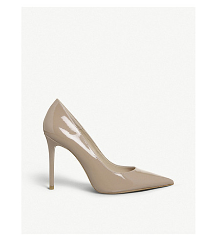OFFICE Hattie patent leather courts (Nude+patent