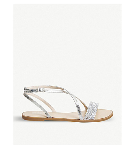 OFFICE Starlight glitter sandals (Silver