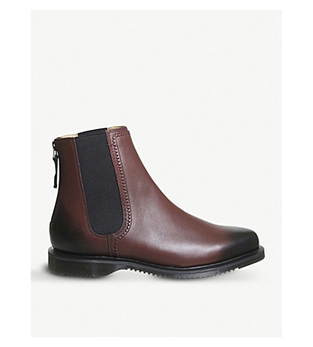 DR. MARTENS Zillow leather chelsea boots (Cherry+red
