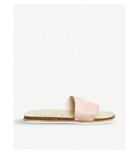 OFFICE Sorrento leather sandals (Nude+leather+gold