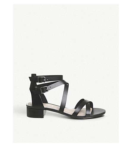 OFFICE Manhattan faux-leather sandals (Black