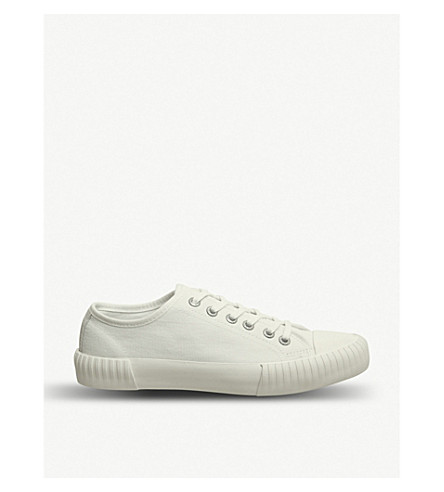 VAGABOND Deniz canvas trainers (Off+white