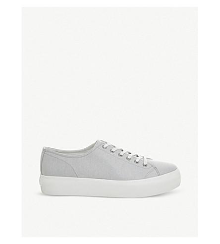 VAGABOND 佩吉帆布平台运动鞋 (灰色
