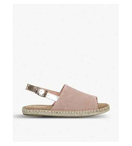 TOMS Clara suede slingback sandals (Bloom+rose+gold