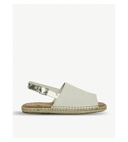 TOMS Clara suede slingback sandals (Birch+silver