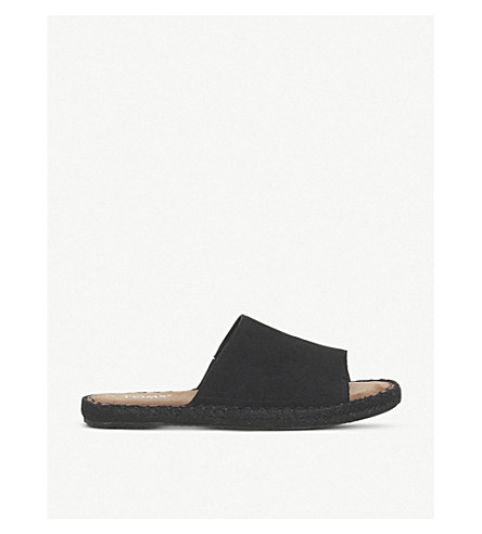 TOMS圣克拉丽塔河麂皮滑块 (黑色 + 麂皮绒