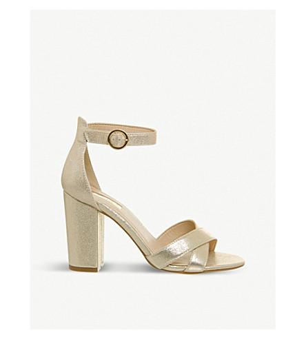OFFICE Holborn metallic cross-strap heeled sandals (Gold