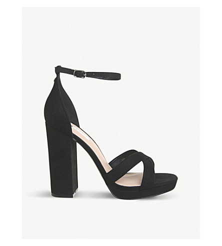 OFFICE Hiccup faux-leather platform-heeled sandals (Black