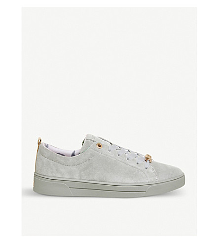 OFFICE Kelleis suede trainers (Light+grey