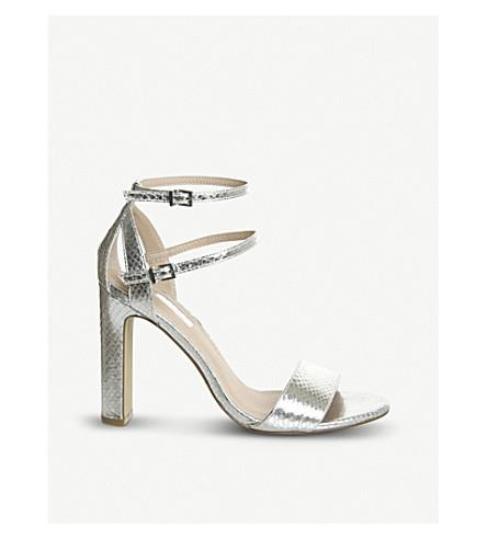 OFFICE Hypnotize metallic heeled sandals (Silver
