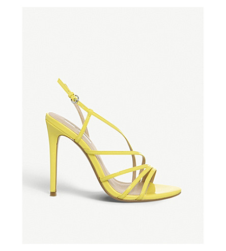 OFFICE Hamsa faux-leather heeled sandals (Yellow