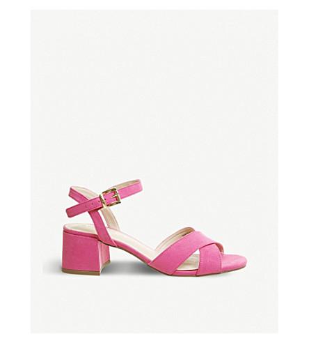 OFFICE Muffin cross-over strap block heel sandals (Fuchsia