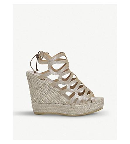 OFFICE Berti metallic-leather wedge sandals (Gold