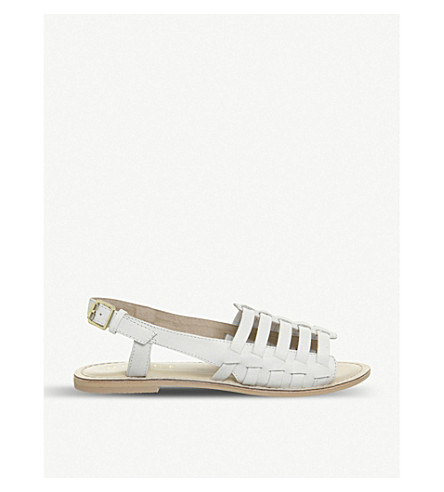 OFFICE Saviour leather sandals (White+leather
