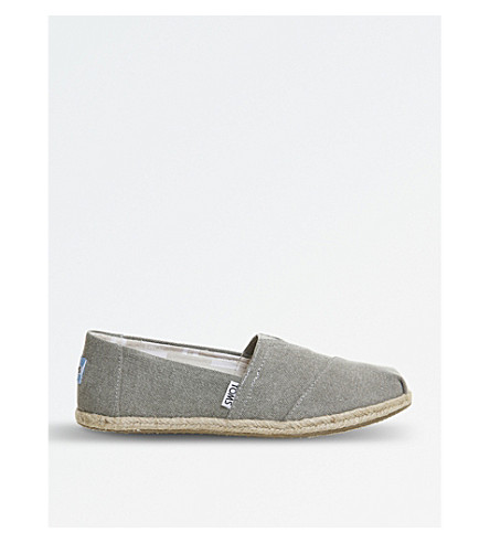 TOMS Canvas shoes (Grey suede rope sole