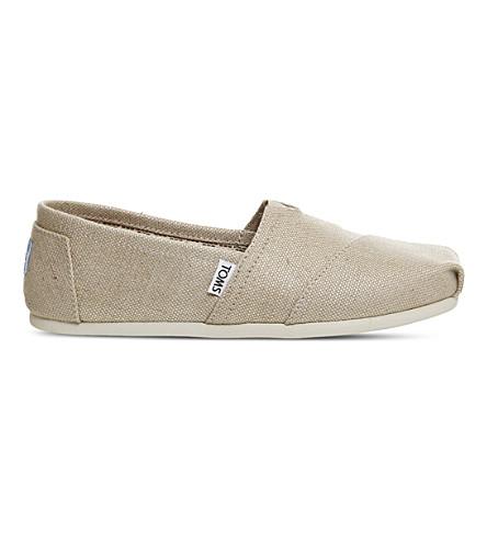 TOMS 经典帆布滑鞋 (天然 + 粗麻布