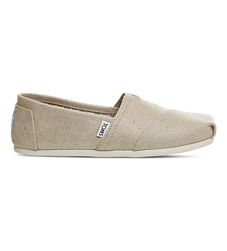TOMS 经典帆布套穿款鞋履 (天然 + 粗麻布)