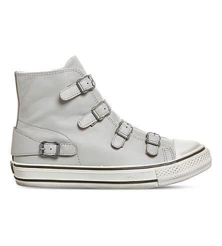ASH Virgin high-top leather trainers (Pearl+leather