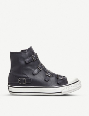 Virgin leather high-top trainers(7378809)