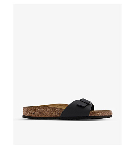 BIRKENSTOCK Madrid 1 bar faux-leather sandals (Black+birko