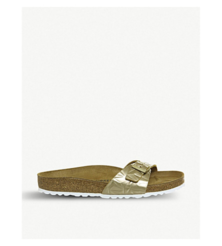 BIRKENSTOCK Madrid 1 Bar metallic-leather sandals (Spectral+platin