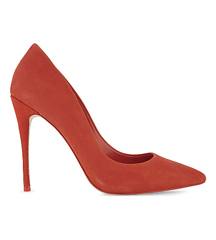 ALDO Stessy suede courts (Red+suede