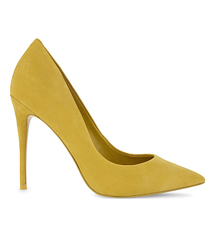 ALDO Stessy suede court shoes (Light+yellow