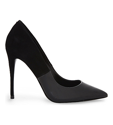 ALDO Stessy heeled court shoes (Black+suede