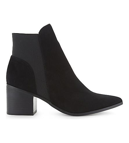ALDO Etiwiel 磨砂踝靴 (黑 + 麂皮绒