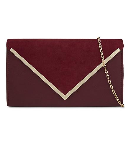 ALDO Varina faux-leather envelope clutch (Bordeau abarasivato